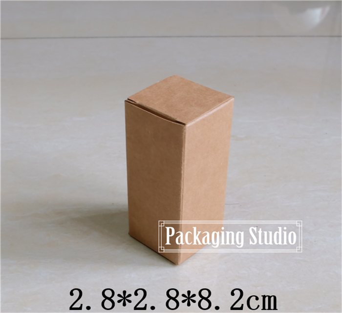 Free shipping Kraft Paper Perfume Packaging Boxes 10ml Essential oil perfume Lipstick Packing Boxes(China (Mainland))