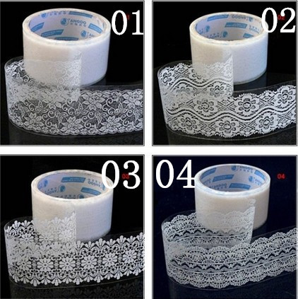 DIY Scrapbooking Products Diary Decoration Stickers Album WHITE Lace Tape with 10 design free shiping(China (Mainland))