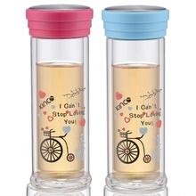 В двойной слой с крышка стекло прозрачный creative портативная чай чаша тепла * 1