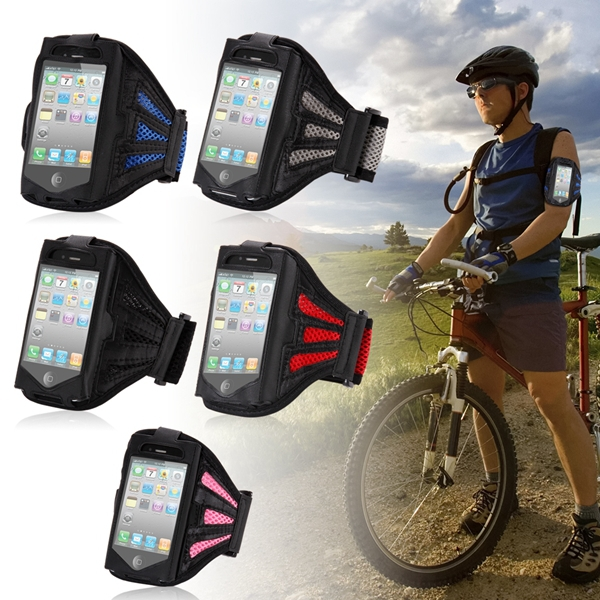 Jogging SPORTS Arm band Case Cover for Iphone 4 4s 4g Breathable Net Design Outdoor Smartphone Case Arm Bag For Cell Phone(China (Mainland))