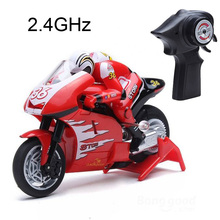 Freeshipping Children Shenqiwei 1/20 Mini RC Motorcycle 2.4GHz High Speed Remote Control Moto RTR Electric Toys Gift For Kids(China (Mainland))