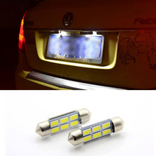 2 x New 36mm Licese Number Plate Light Bulb Canbus LED For Skoda Octavia Superb(China (Mainland))