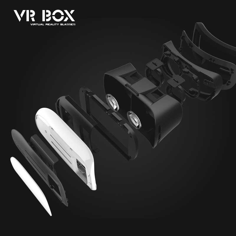 2016 VR Box Version 2 II 2 0 Headmount VR Virtual Reality 3D Glasses Google Cardboard