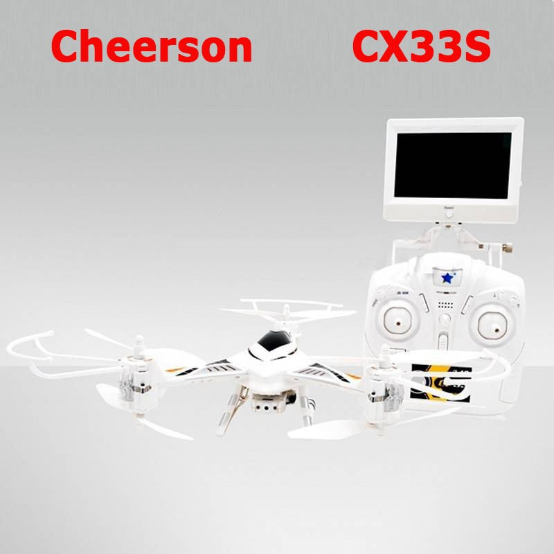 Cheerson CX-33S CX33S One-Key-return & Take Off Barometer Set High RC Quadcopter With 2.0MP HD Camera 5.8G FPV RC Tricopter RTF