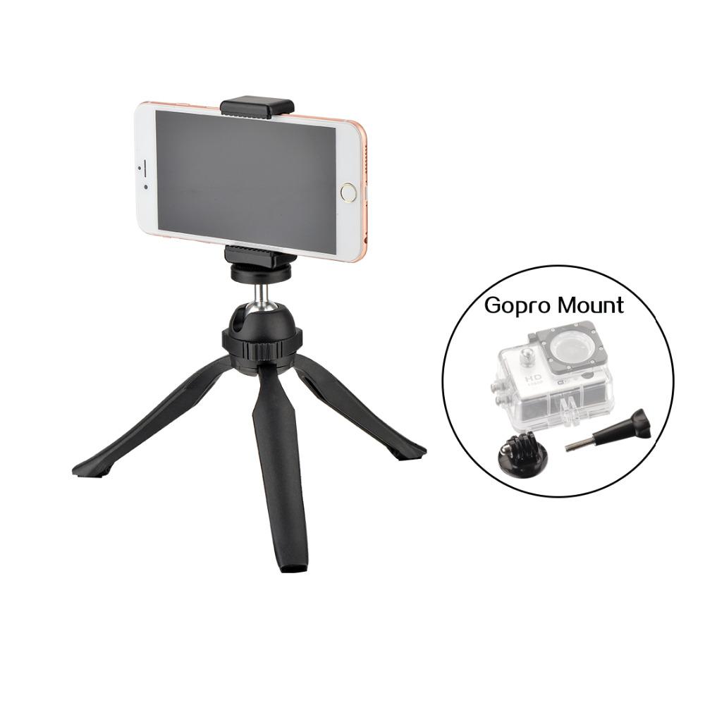 DIGIPOD Mini Tripod Black PocketPod Tabletop Gorillapod with Mobile Phone Holder for Xiaomi Iphone Camera Gopro Hero 4 S-060MT(China (Mainland))