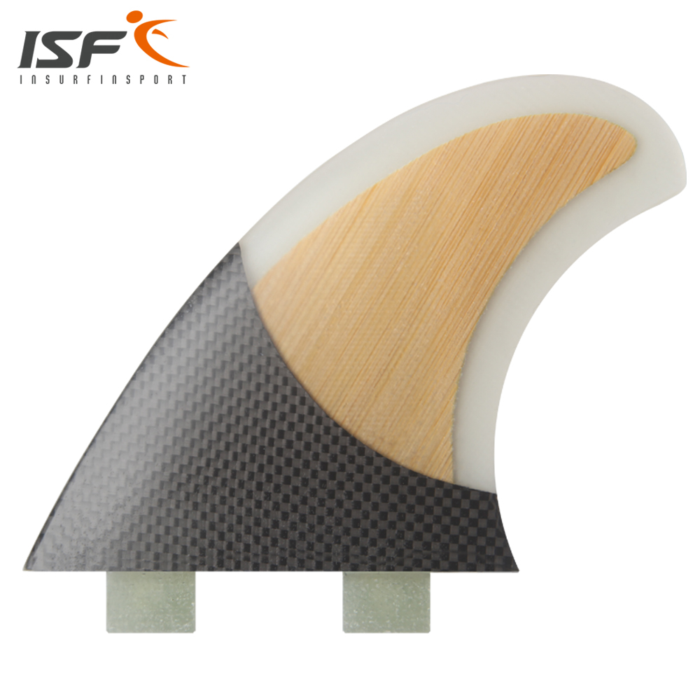 Insurfin Surfboard Fins Quad fin Set (4) Piece FCS Base Fiberglass Carbon Bamboo Honeycomb Claer Color SQ Surf Fin(China (Mainland))