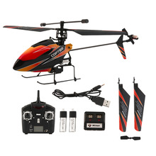 Genuine Toy Single Propeller Helicopter Remote Control Airplane 4CH 2.4G Hot Selling(Black Orange)(China (Mainland))