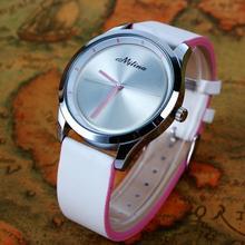 Nuevo 2015 de la alta calidad de cuero correa de reloj de cuarzo LOGO 100% mujeres vestido reloj mujeres reloj de cuarzo relojes Casual