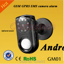 Auto Anruf SMS GPRS GM01 GSM Kamera Alarm Infrarot Bewegungsmelder PIR Sensor Nachtsicht IR Kamera Alarm mit Android & iOS App(China (Mainland))