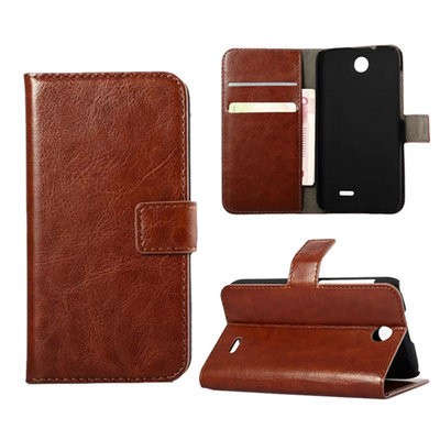D310 Luxury Crazy Horse Leather Flip Up and Down Case Cover for HTC Desire 310 Back Cover With Stand Card Holder(China (Mainland))
