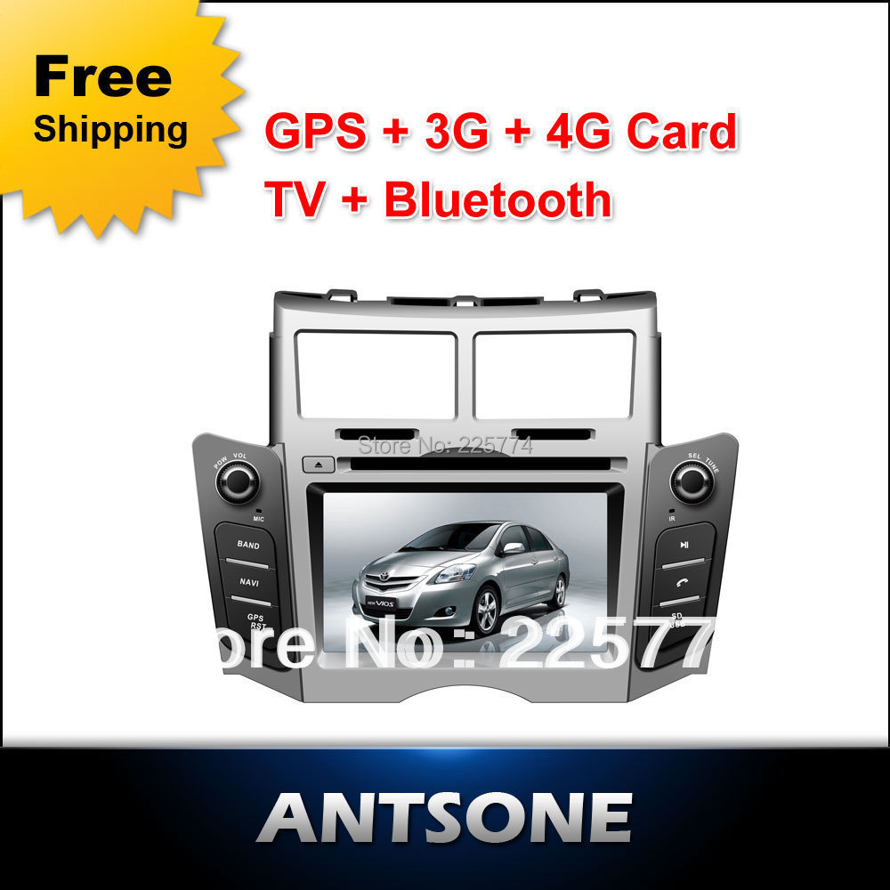 6.2 Touch Screen TOYOTA YARIS Car DVD With GPS Navigation Bluetooth Radio IPOD Free Shipping + 4G Card &amp; Map Black/Silvery<br><br>Aliexpress