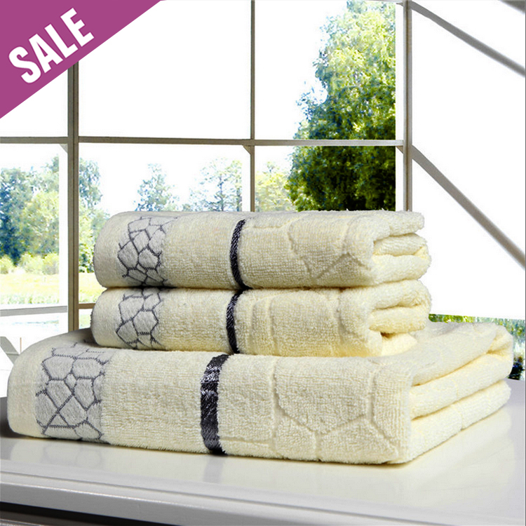 3 Pc /set 100% Cotton thickened 2pc Face towel+1pc Bath Towel for Adults, towels set, Beach / Bath /SPA towels Toalhas De Banho(China (Mainland))