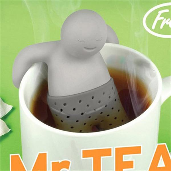 Fun Mr.Tea Infuser Silicone Loose Tea Leaf Strainer Herbal Spice Filter Diffuser YRD(Hong Kong)