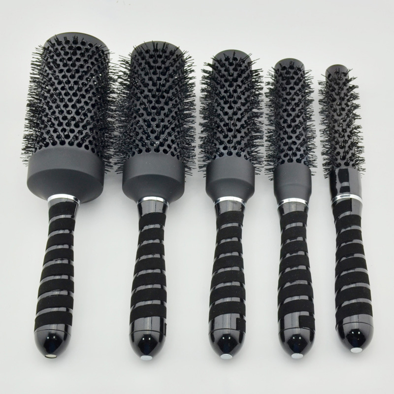 5 pieces Hairdressing supplies factory direct full chameleon ceramic tubes volume aluminum barrel roll comb HA001(China (Mainland))