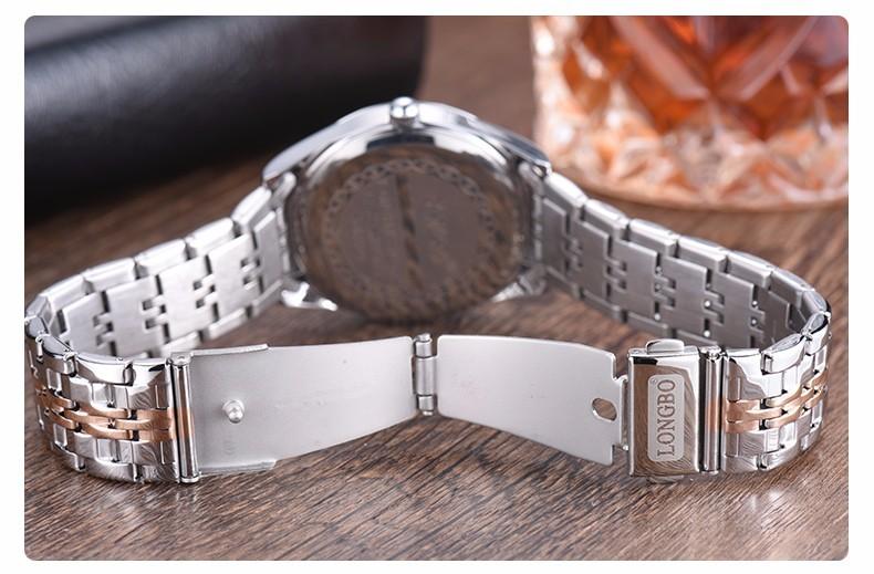 LONGBO Бренд Мужской Кварцевые Часы Женщины Мода Из Нержавеющей Стали Автоматическая Дата Waterprrof Часы Платье Часы Relogio женщина для 80164