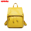 Leather backpack bags 2016 new fashion leather backpack is very good collocation of vertical student package