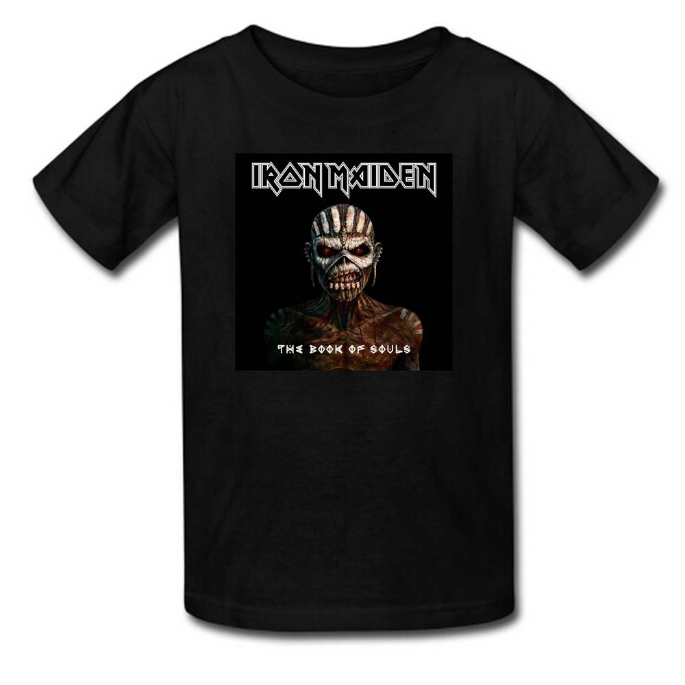 T shirts the book of souls iron maiden printed men 39 s for Books printed on t shirts