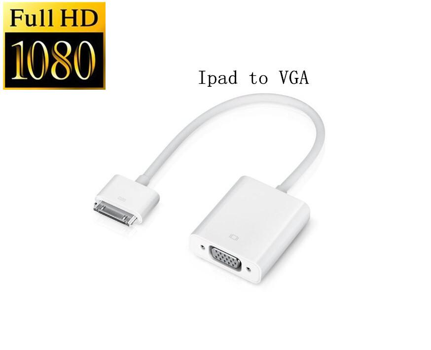Generic Everconn foriPad Dock Connector To VGA Cable Adapter compatibile)- Enjoy foriPad Video And Audio On Big TV Screen(China (Mainland))