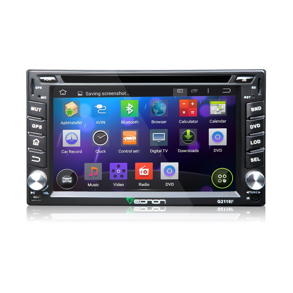 autoradio gps 2 din car dvd car radio eonon g2110f 6 2 hd android 4 4 quad core wifi 3g touch. Black Bedroom Furniture Sets. Home Design Ideas