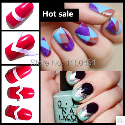 Hot Sale18 Designs For Choose French Smile Stickers Easy Beauty DIY Nails Round Square 3D Nail Art Nail Sticker Gel Nail Decal(China (Mainland))