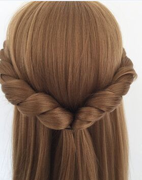 CAMMITEVER Blonde Dummy Mannequin Training Head Hair Styling Long Hair Mannequin Cosmetology Mannequin Heads Hair Models Made(China (Mainland))