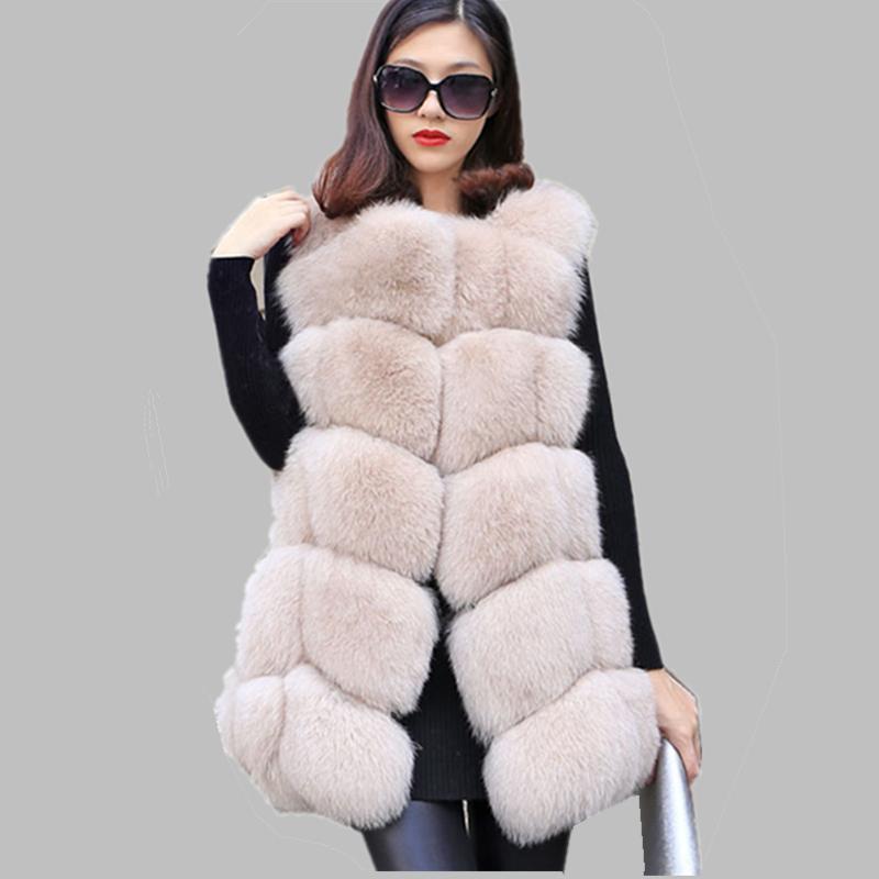Women New 100% Genuine Blue Fox Fur Medium Vest Waistcoat Warm Winter Fur Jacket Plus Size BF-V0061Одежда и ак�е��уары<br><br><br>Aliexpress