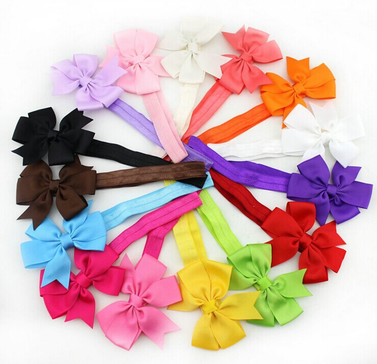 1 European baby girls hairband years 0-3 lace bownot headband eco-friendly hair accessories mix color - Warmly Family store