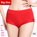Panties Large Size Women Brief Big Size Lingerie Women Breathable Middle Waist Intimates Women Brief 3XL