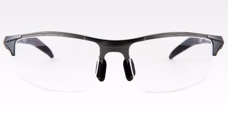 BENZEN Aluminum Magnesium Men Glasses Frame Metal Half Frame ...