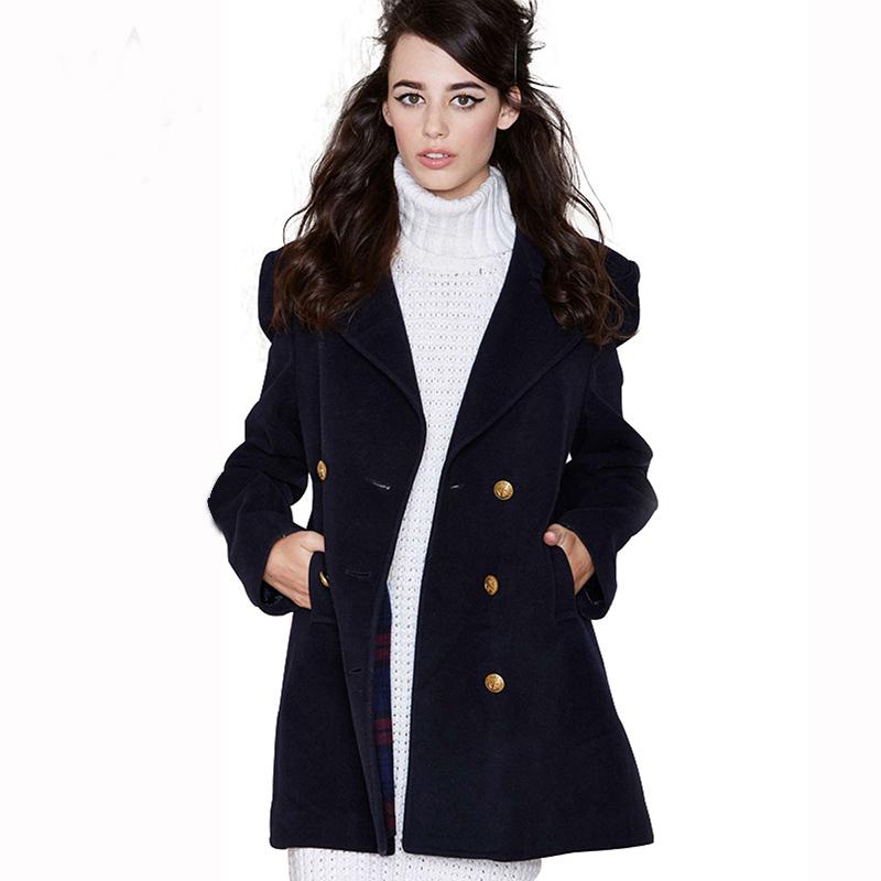 Classic Navy double Brand Design Winter Coat Women Warm Coat Long Women's Coat European Fashion Jacket Outwear Slim Coats RE55(China (Mainland))