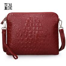 Buy Vintage Women Messenger Bags Luxury Split Leather Cowhide Envelope Clutch Crocodile Pattern Handbags CrossBody Shoulder Bolsos for $11.65 in AliExpress store