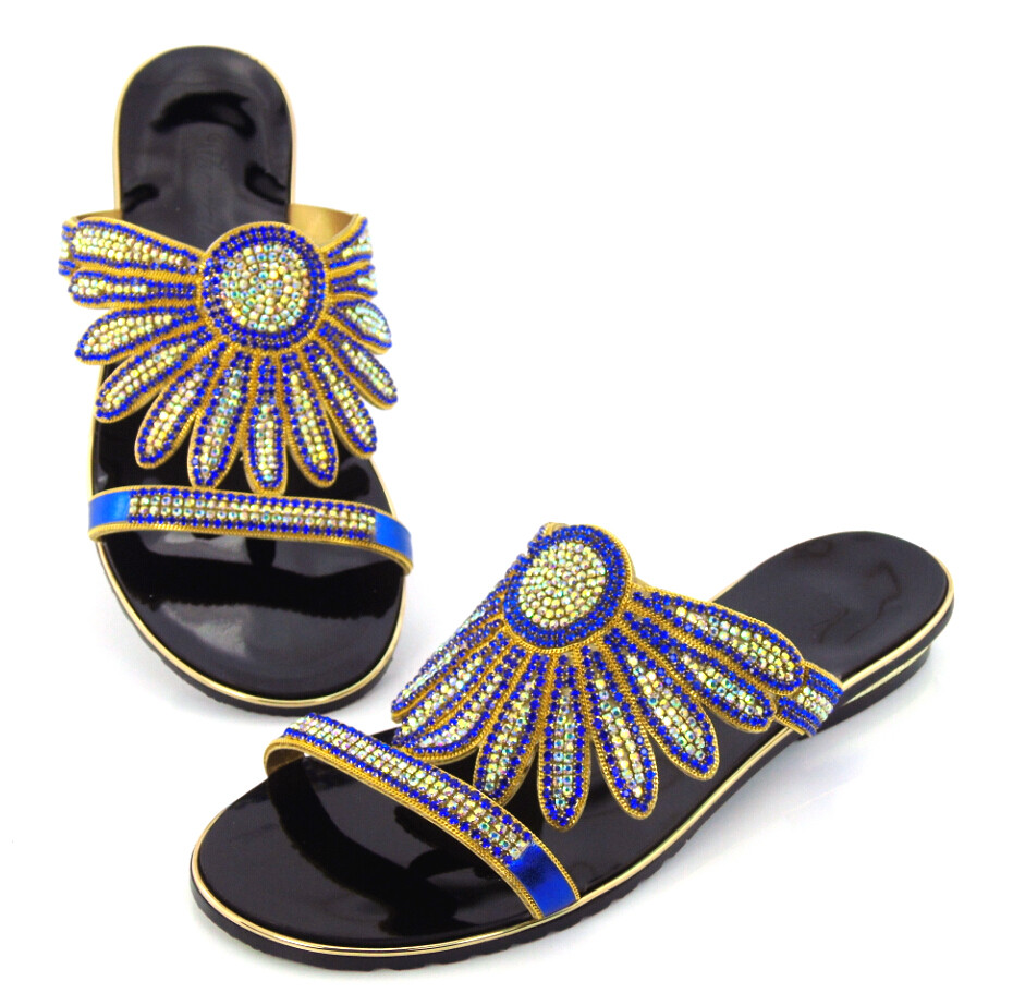 CD125 3 blue Free Shipping 2016 New Fashion Italian African Shoes Nigerian Fashion style item Women