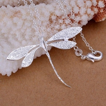 Buy wholesale silver plated pendant,925 fashion Silver jewelry dragonfly pendants necklace women/men +chain SP076 for $1.18 in AliExpress store