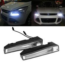 2pcs lot Super Bright Universal waterproof IP67 CREE LED Daytime Running Light LED DRL Car Driving
