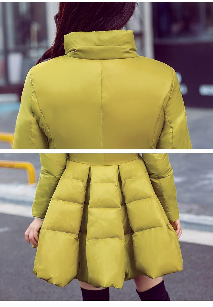 Скидки на Новый 2015 зимнее пальто женщин верхней одежды с капюшоном сгущает свободного покроя тонкий длинный пуховик женщин элегантный пуховик
