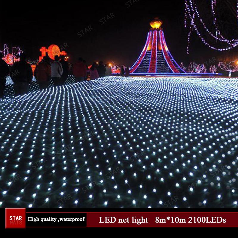 LED net light 220V 8m*10m 1280LEDs string net light waterproof outdoor decorative lights holiday Christmas light(China (Mainland))