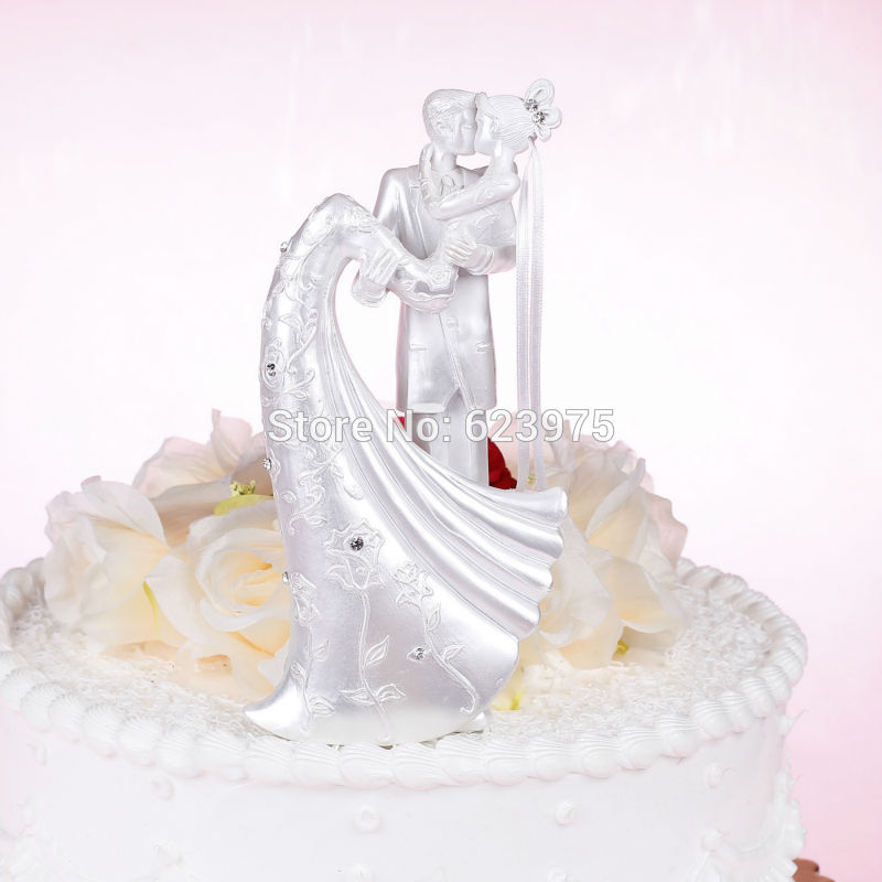 Aliexpress Buy Pearl White Wedding Cake Toppers Romantic Cake Toppers In USA China From