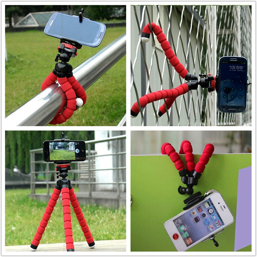 1 Car Phone Holder Flexible Octopus Tripod Bracket Selfie Stand Mount Monopod for iPhone 4 5 6 Samsung LG Android pau gopro(China (Mainland))