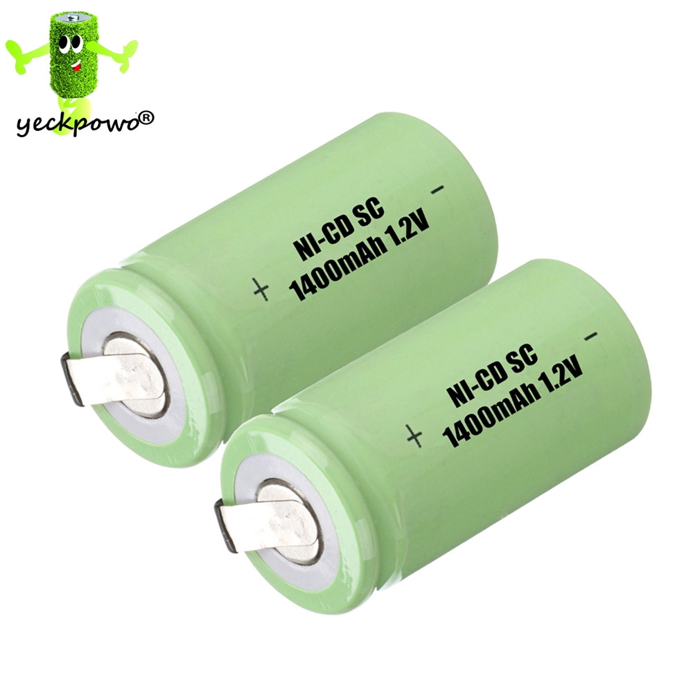 2 pcs SC battery subc battery rechargeable ni-cd replacement for Hiliti 1.2v element for Makita 1400mah SC accumulator(China (Mainland))