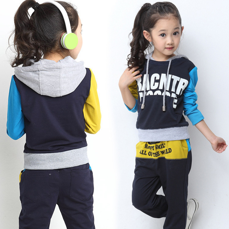 Girl Autumn Clothing Sets 3 8A Kids Sports Clothes