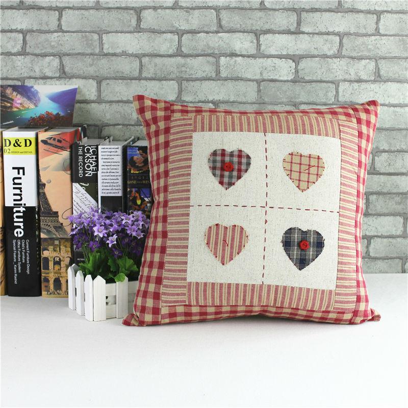 Cushion cover for car pillowcase Hold pillow case sofa cushion cover four love hearts 45cm 45cm
