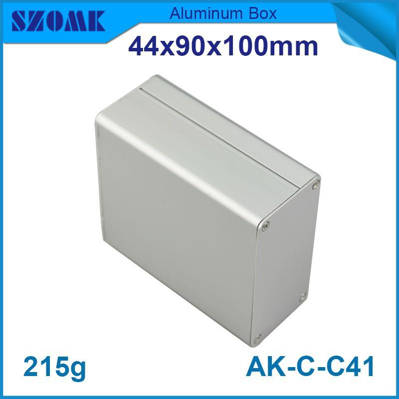 10 pcs/lot aluminium szomk electronics aluminium box which in silver color fit pcb diy design size 39x85mm small aluminum case(China (Mainland))