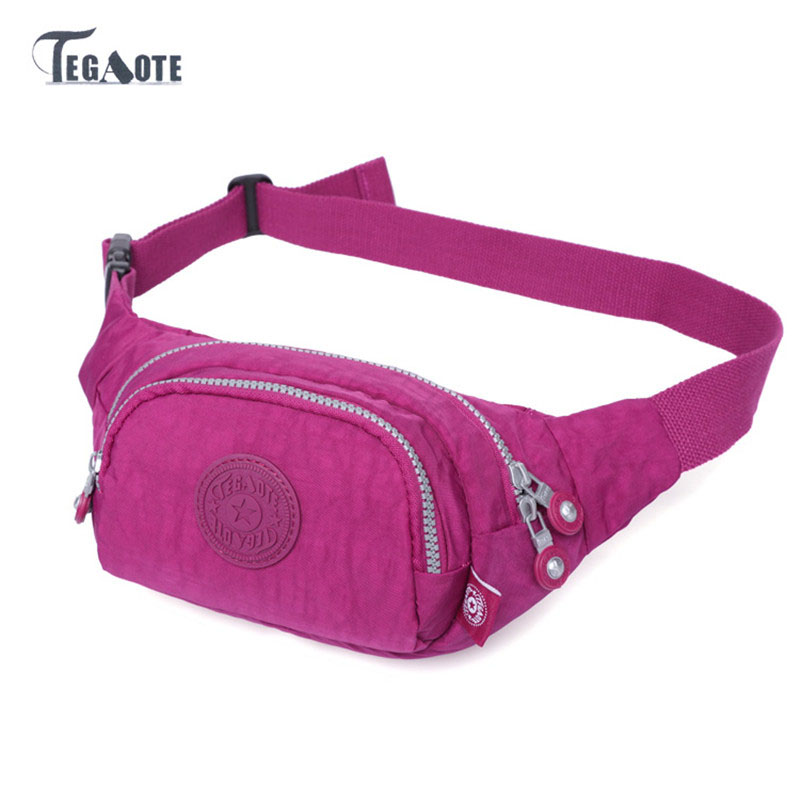 TEGAOTE Fanny Pack Women Waist Bag Casual Kipled Bolsa Cintura Bag Small Belt Bag Female Multifunctional Waist Pouch Hip Bag