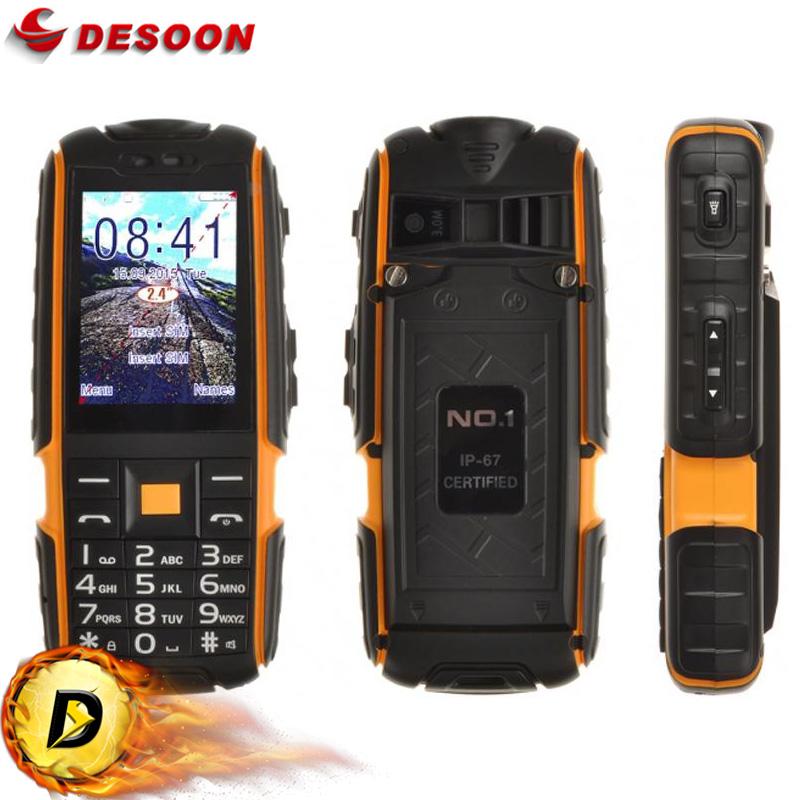 Original No.1 A9 waterproof Mobile Phone 4800mAH Large Capacity Battery Dual SIM 3.0MP Camera 2.4 INCH 240*240 Unlock Phone(China (Mainland))