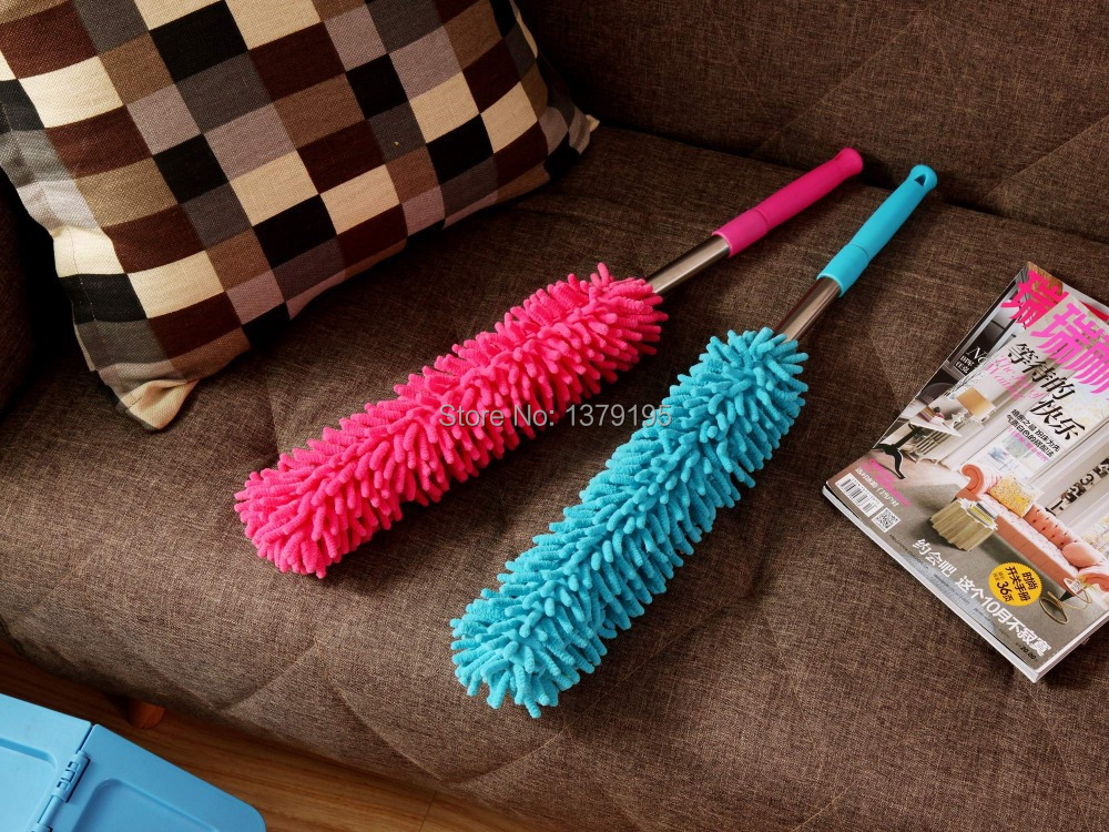 2pcs/lot Stretch Multifunctionl chenille car dust duster cleaning tool Dirt Dust Clean Brush(China (Mainland))