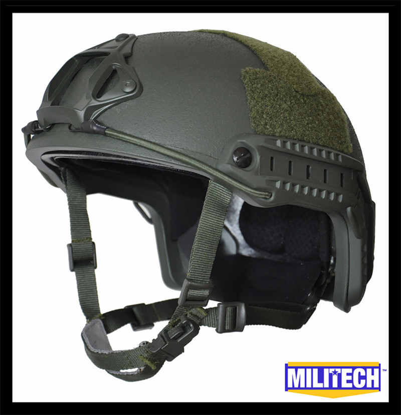 M/LG Oliver Drab Green Deluxe NIJ level IIIA 3A FAST Bulletproof Helmet With HP White Ballistic Test Report and 5 Years Warranty(China (Mainland))