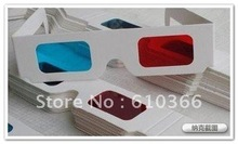 Paper 3D Glasses Red Blue / Cyan , 2000pcs Cheap Price Best Choice(China (Mainland))