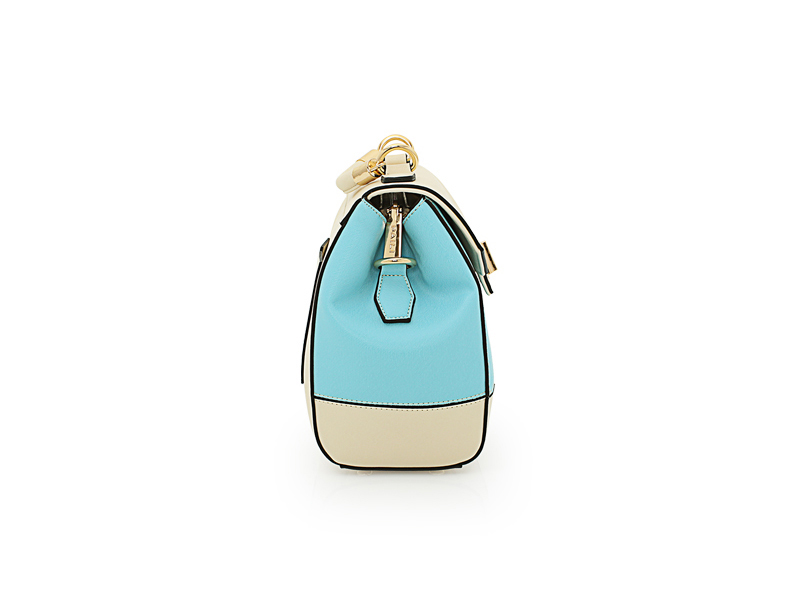Famous Brand New Fashion Chain Bag Designer Sweet Style Panelled Bucket Bag Contrast Color Splicing Handbag Shoulder Bag