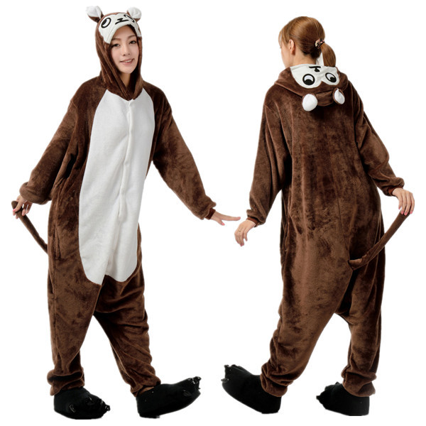 Two piece footed pajamas for adults