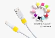 10pcs/lot silicone digital cable protector Cord Protecotor Protective sleeves cable winder cover for iphone ipad